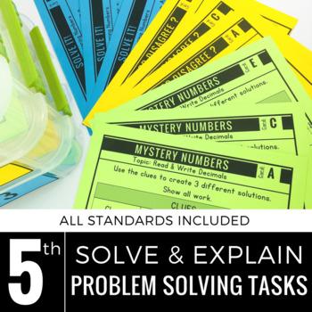 5th Grade Math Centers | Problem Solving Tasks