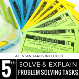 5th Grade Math Centers | Problem Solving | Solve and Explain