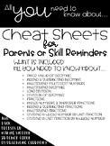 5th Grade Math Cheat Sheets ***GROWING BUNDLE***