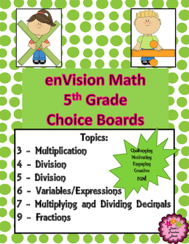 5th Grade Math EnVision Topics BUNDLE