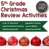 5th Grade Math Christmas Activities