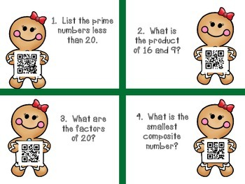 5th Grade Math Christmas Task Cards and Activity Packet