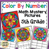 5th Grade Math Color By Number Designs: 5th Grade Math Mys