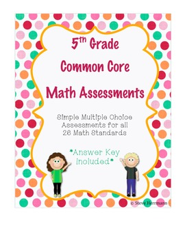 5th Grade Math Common Core Assessments