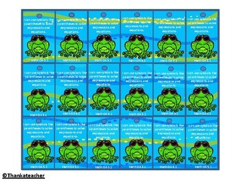 5th Grade Math Common Core Brag Tags