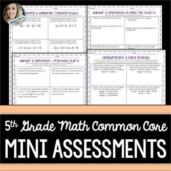 5th Grade Math Common Core Mini Bundle