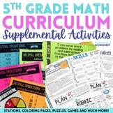 5th Grade Math Activities Bundle : Supplemental Curriculum