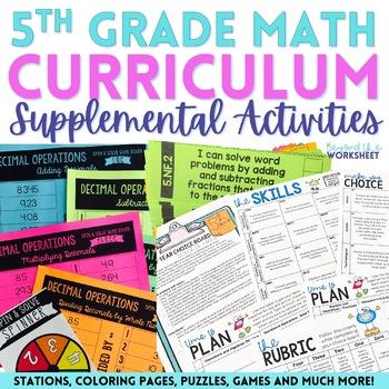 5th Grade Math Activities Bundle : Supplemental Curriculum Resources