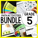 5th Grade Math Activities Bundle : Supplemental Curriculum
