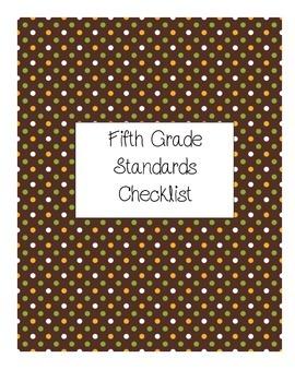 5th Grade Math Common Core Checklist