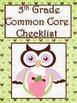 5th Grade Math Common Core Checklist - Lesson Planning Form