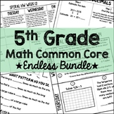 5th Grade Math Common Core Endless Growing Bundle