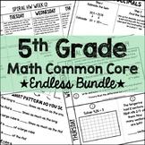 5th Grade Math Common Core Endless Growing Bundle
