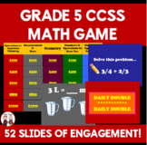 End of Year - End of the Year 5th Grade Math Common Core Game