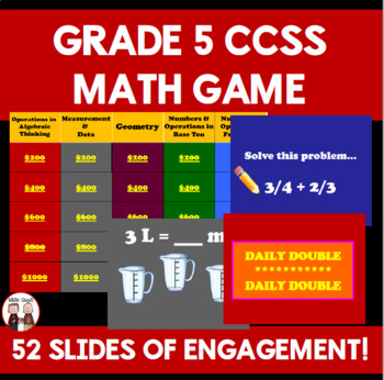 End of Year 5th Grade Math Common Core Game