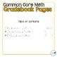 5th Grade Math Common Core Gradebook Pages **EDITABLE**