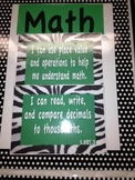 "5th Grade Math Common Core ""I Can"" Posters"