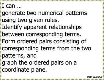 "5th Grade Math Common Core ""I Can"" Statements"