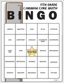 5th Grade Math Common Core Math Vocabulary Bingo