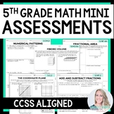 5th Grade Math Common Core Mini Assessments