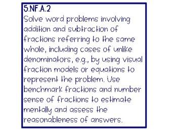5th Grade Math Common Core Posters