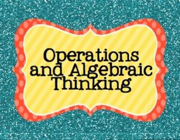 5th Grade Math Common Core Posters- Bright Glitter