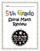 5th Grade Morning Work - 5th Grade Spiral Math Review