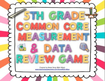 5th Grade Math Common Core Review Game (Measurement and Data)