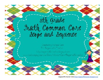 5th Grade Math Common Core Scope and Sepquence