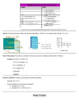 5th Grade Math Common Core Study Guide