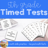 5th Grade Math Common Core Timed Tests Bundle