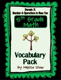 5th Grade Math Common Core Vocabulary Complete Pack *Domain 2*