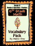 5th Grade Math Common Core Vocabulary Complete Pack *Domain 3*
