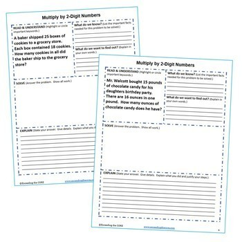 5th Grade Math Common Core WORD PROBLEMS with Graphic Organizer { BUNDLE }