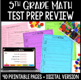 5th Grade Math Test Prep Review   Google Slides™ Math for Distance Learning