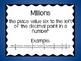 5th Grade Math Common Core Word Wall (Multiplying and Dividing with Decimals)