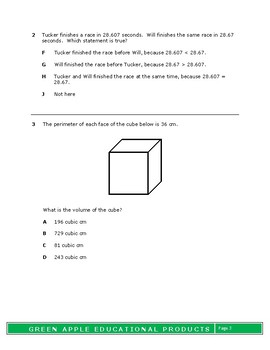 5th Grade Math Comprehensive Test- 2017