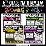 5th Grade Math Connect 5 Games - GROWING BUNDLE!