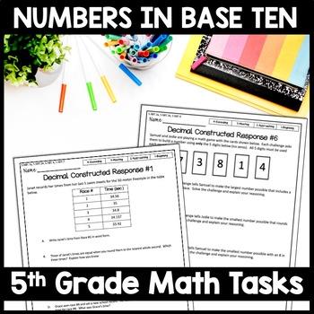 5th Grade Math Constructed Response: 10 NBT Multi-Part Performance Tasks