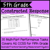 5th Grade Math Constructed Response Bundle, 35 Multi-Part Performance Tasks!