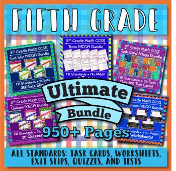 5th Grade Math Curriculum Bundle: Digital + Paper ULTIMATE Bundle: Google + PDF