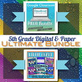 5th Grade Math Curriculum Bundle ⭐ Digital and Paper Bundle ⭐ Google and PDF