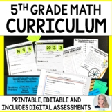 5th Grade Math Curriculum : A Completely Editable Curriculum