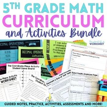 5th Grade Math Curriculum and Activities Bundle