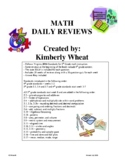 5th Grade Math Daily Review Booklet