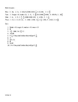 5th Grade Math Daily Review Week 24