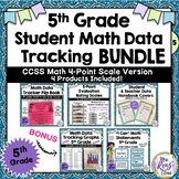5th Grade Math Data Tracking Tracking Bundled Set (4 Point Scale)