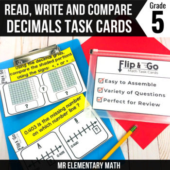 Decimals - 5th Grade Math Flip & Go Cards