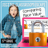 5th Grade Math Digital Escape Room | 5.NBT.1 - Place Value