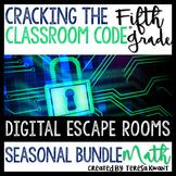 5th Grade Seasonal Math Digital Escape Room Bundle Distanc